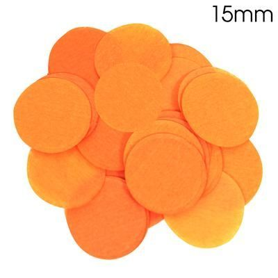 Orange Paper Confetti 15mm