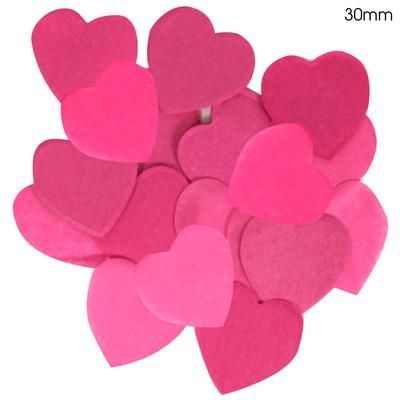 Pink Paper Heart Confetti 30mm