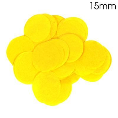 Yellow Paper Confetti 15mm