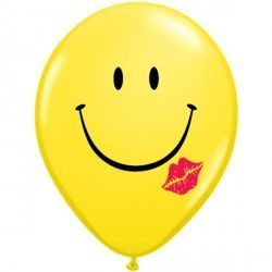 "A SMILE & A KISS 11"" YELLOW (50CT)"
