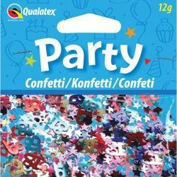 AGE 18 MULTI-COLOURED BIRTHDAY CONFETTI 12G (1CT X 6 PACKS)