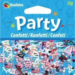 AGE 21 MULTI-COLOURED BIRTHDAY CONFETTI 12G (1CT X 6 PACKS)