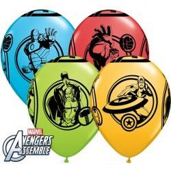 "AVENGERS ASSEMBLE 11"" LIME GREEN, GOLDENROD, ROBIN'S EGG BLUE & RED (25CT)"