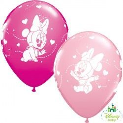 "BABY MINNIE HEARTS 11"" PINK & WILD BERRY (25CT)"