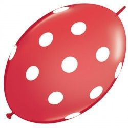 "BIG POLKA DOT QUICK LINK 12"" RED (50CT)"