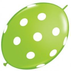 "BIG POLKA DOTS QUICK LINK 12"" LIME GREEN (50CT)"