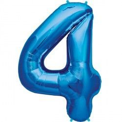 "BLUE NUMBER 4 SHAPE 16"" PKT"