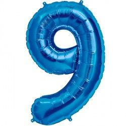 "BLUE NUMBER 9 SHAPE 16"" PKT"