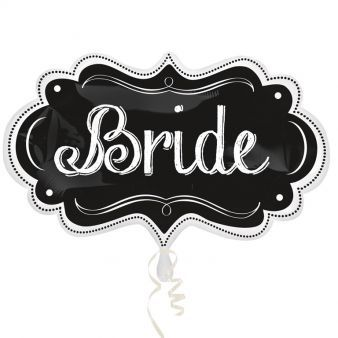 Bride Chalkboard Marquee SuperShape