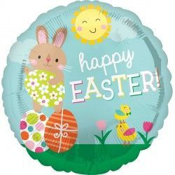 BUNNY & CHICKS HAPPY EASTER STANDARD S40 PKT