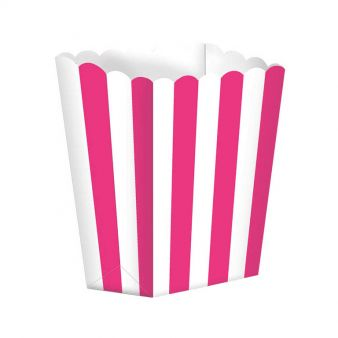 Candy Buffet Popcorn Treat Boxes Bright Pink 5pck