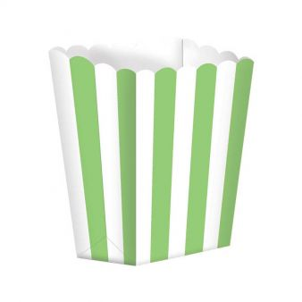 Candy Buffet Popcorn Treat Boxes Kiwi Green 5pck