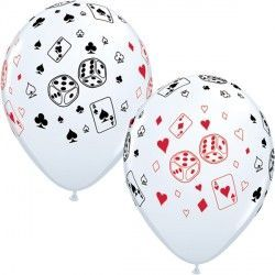 "CARDS & DICE 11"" WHITE (25CT)"