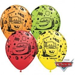 "CARS LIGHTNING McQUEEN & MATER 11"" RED, ORANGE, LIME GREEN & YELLOW (25CT)"