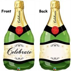 "CELEBRATE BUBBLY WINE BOTTLE 39"" SHAPE GROUP B PKT"