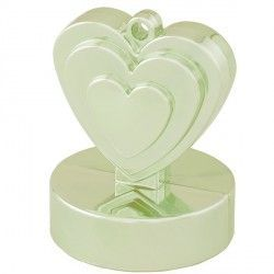 CHAMPAGNE IVORY SINGLE HEART WEIGHTS 110g 12CT