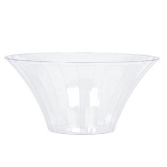 Clear Medium Plastic Flared Bowl 18cm
