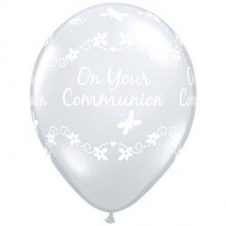 "COMMUNION BUTTERFLIES 11"" DIAMOND CLEAR (50CT)"