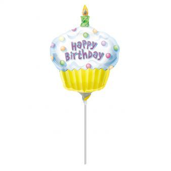 Cupcake Happy Birthday Mini Shape Flat