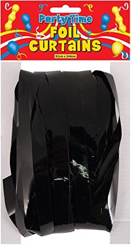 CURTAIN DOOR FOIL BLACK 1.2CM CUT 92 X 244CM