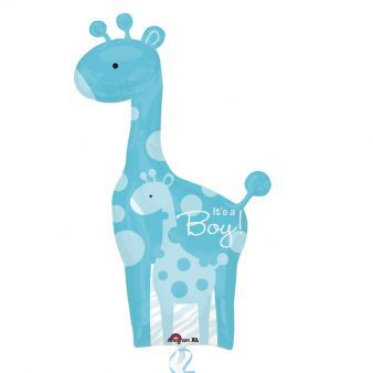 Dad & Baby Blue Giraffes SuperShape XL