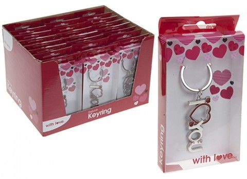 DELUXE I LOVE YOU KEYCHAIN IN GIFT BOX