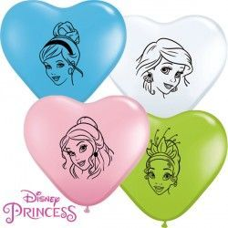 "DISNEY PRINCESS ASSORTMENT 6"" PINK, PALE BLUE, LIME GREEN & WHITE (100CT)"