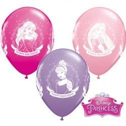 "DISNEY PRINCESS BIRTHDAY 11"" PINK, SPRING LILAC & WILD BERRY (25CT)"