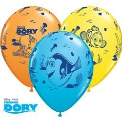 "DORY & FRIENDS 11"" YELLOW, ORANGE & ROBIN'S EGG BLUE (25CT)"