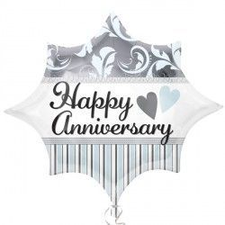 Elegant Happy Anniversary Burst Junior Shape