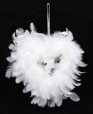 Eleganza Feather Open Heart 17cm 1pcs