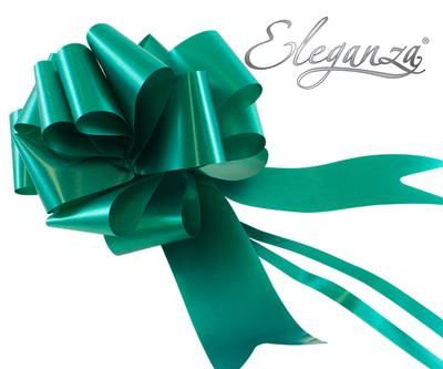 Eleganza Poly Pull Bows 50mm x 20pcs Emerald Green