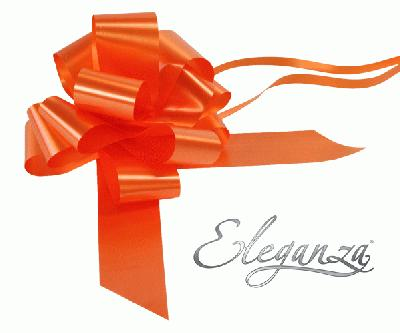 Eleganza Poly Pull Bows 50mm x 20pcs Orange