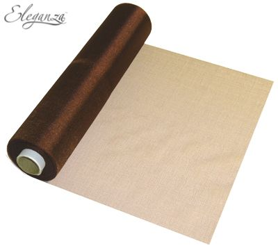 Eleganza Soft Sheer Organza 29cm x 25m Chocolate