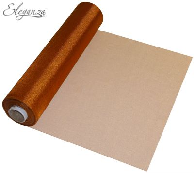 Eleganza Soft Sheer Organza 29cm x 25m Copper