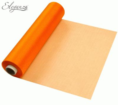 Eleganza Soft Sheer Organza 29cm x 25m Orange