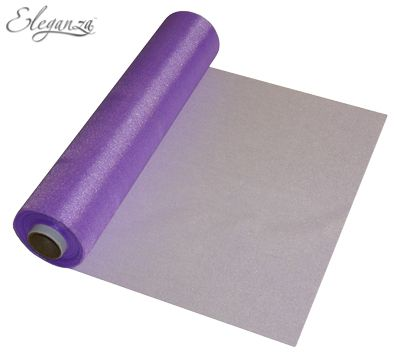 Eleganza Soft Sheer Organza 29cm x 25m Purple