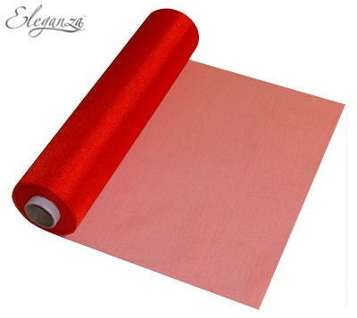 Eleganza Soft Sheer Organza 29cm x 25m Red