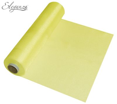 Eleganza Soft Sheer Organza 29cm x 25m Yellow