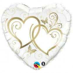 "ENTWINED HEARTS GOLD 18"" PKT"