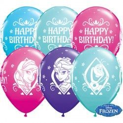 "FROZEN BIRTHDAY 11"" WILD BERRY, CARIBBEAN BLUE, PURPLE VIOLET & ROBIN'S EGG BLUE (25CT)"