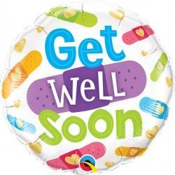 "GET WELL SOON BANDAGES 18"" PKT"