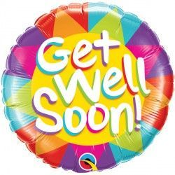 "GET WELL SOON SUNSHINE 18"" PKT"