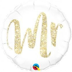 "GLITTER GOLD MR. 18"" PKT"