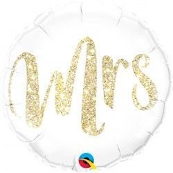 "GLITTER GOLD MRS. 18"" PKT"