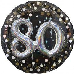Gold Sparkling Celebration 80th Birthday Multi