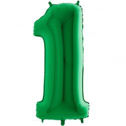 "Grabo GREEN NUMBER 1 SHAPE 40"" PKT"