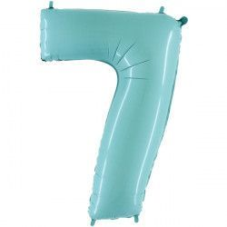 "Grabo PASTEL BLUE NUMBER 7 SHAPE 40"" PKT"