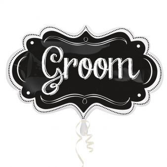 Groom Chalkboard Marquee SuperShape