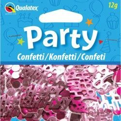 HAPPY BIRTHDAY PINK CONFETTI 12G (1CT X 6 PACKS)